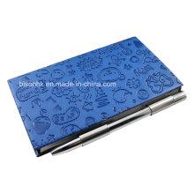 Leder Cover Memo Pad Halter mit Stift, Notizblockhalter