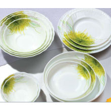 Round Opal glassware plate dinner set