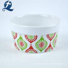 Taza de pastel de cerámica de Navidad de gres personalizado colorido