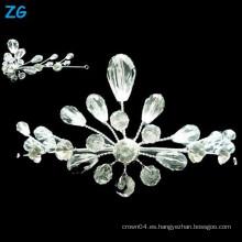 Yiwu Zhanggong cristal de belleza al por mayor desfile nupcial con corona nupcial