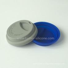 Tampa do copo do silicone da poeira do anti para o café