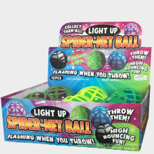 Pet toy glowing ball spider tennis