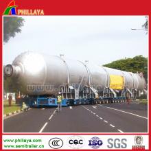Heavy Duty Multi Axles Heavy Equipment Transport Tank Semi Trailer