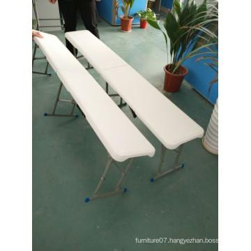 6FT Plastic Folding Bench, Garden Bench, Balcony Bench Easy Carrying Bench