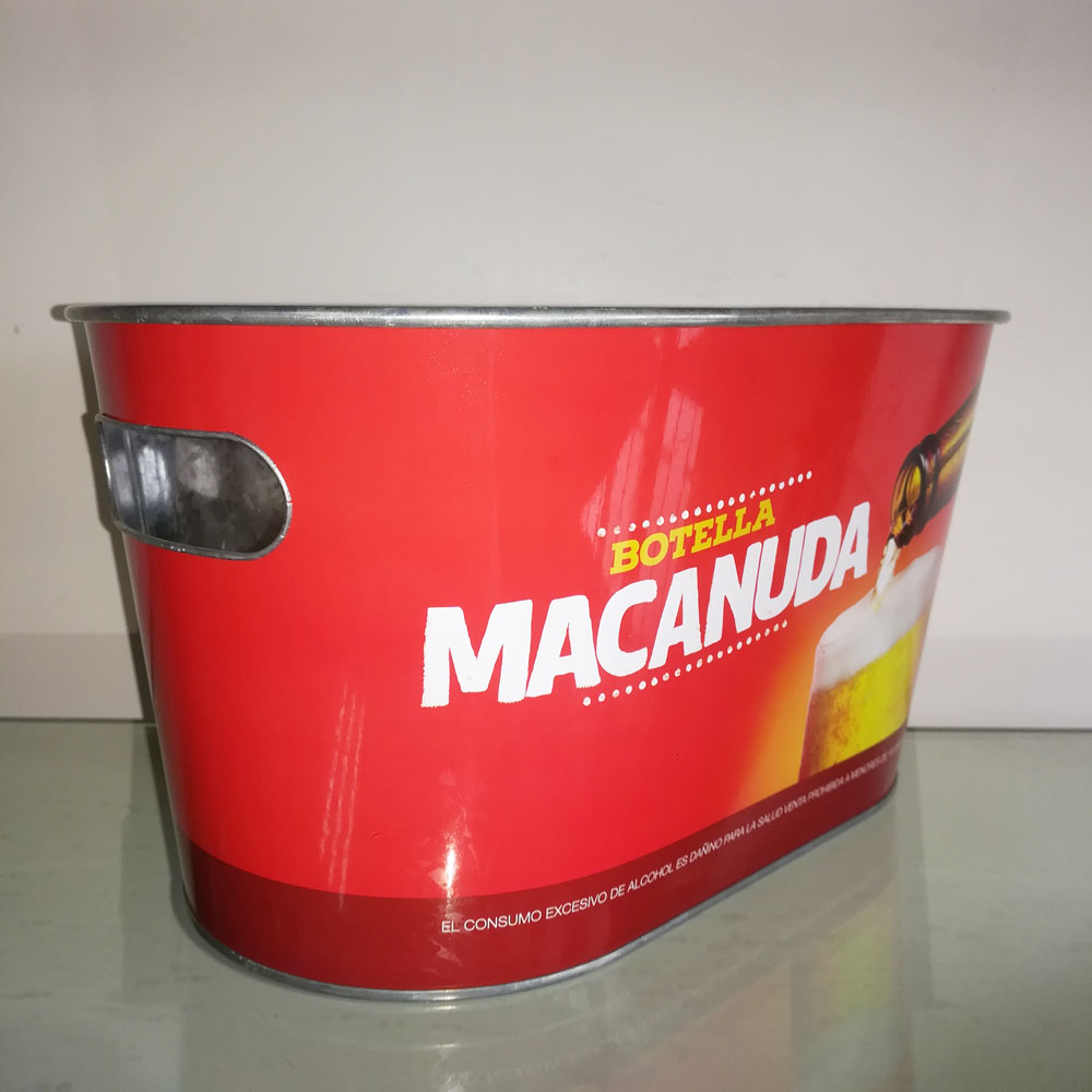 galvanized metal bucket