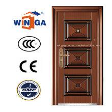 Südafrika Beliebte Sicherheit Stahl Kupfer Tür (W-ST-01)