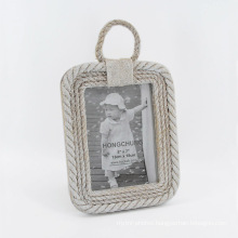 Pastoralism Hemp Rope Wooden Picture Frame for Home Deco