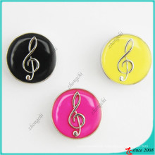 New Arrival 20mm Music Note Snap Charms