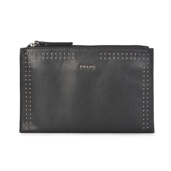 Women's Leather Cosmetic Bag Envelope Bag