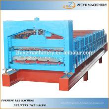 Máquina de corrugación de panel de pared / techo de doble capa