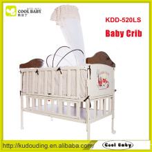 China fabricante NEW design portátil khaki dobrável berço de viagem do bebê com armação de aço