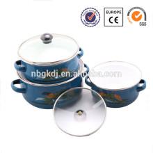 3 pcs Enamelware Casserole pyrex glass casserole