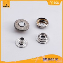Bouton Snap en forme de bouton strass Bouton Snap en métal personnalisé BM10801