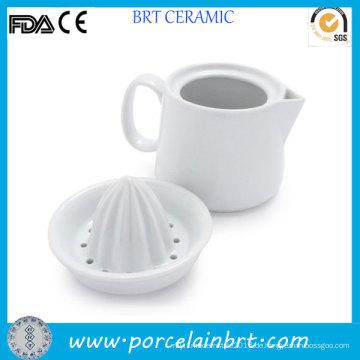 Ceramic White Manuelle Zitruspresse
