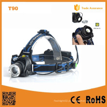 400lm CREE Xm-L T6 Zoom telescópico Farol (POPPAS-T90)