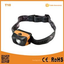 T10 3 níveis de brilho 1W Ipx4 impermeável refletor LED de alta potência farol