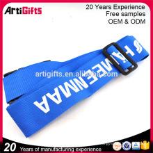 De buena calidad suprema heavy duty poliéster seguridad impresión de alambre diseño personalizado su propia cuerda sin mínimo