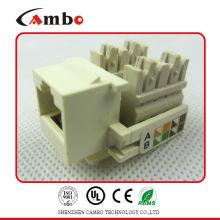 Made In China UTP/FTP Pass Fluke test Cat5e/cat6/cat6a modular jacks