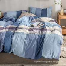 Cheap Price Home Collection Luxury Trendy Color Multicolor Gingham New Product Cotton Bed Sheets