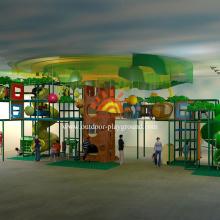 Playground Indoor temático da selva enorme ajustado para crianças