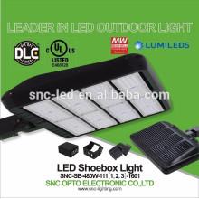 2016 a lâmpada a mais quente 480w dos parques de estacionamento do diodo emissor de luz, luz exterior de Shoebox do diodo emissor de luz, dispositivo elétrico de Shoebox do diodo emissor de luz de DLC