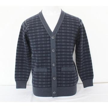 Cashmere / Yak lã V Neck Cardigan com bolso Sweater / roupas / vestuário / malhas