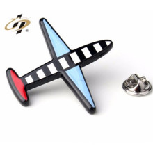 custom metal made funny airplane pin badge