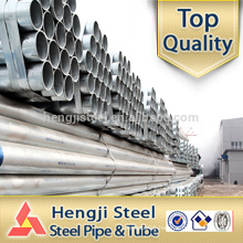 Hot dip Galvanized ERW steel pipes factory in Tianjin