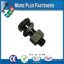 Made in Taiwan DIN 7990 Hexagon Bolts with Hexagon Nut Hexagon Structural Bolts