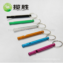 Hiking Aluminum Survival Whistle Keychain Outdoor Camping Survival Emergency Whistle