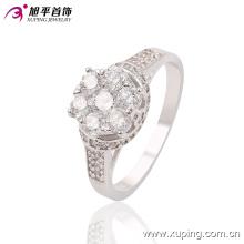 Nouvelle Arrivée De Mode CZ Diamant Femmes Bijoux Bague En Couleur Rhodium-Plaqué - 13639