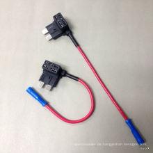 Fügen Sie einen Circuit Standard ATO Blade-Typ-Auto-Sicherungs-Tap-Halter hinzu