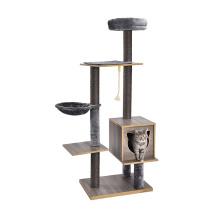 Multifunctional Modern Stylish Wooden Sisal Furniture Cat Tree
