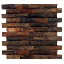 Old Boat Wood Mosaic Uneven Interior Decoration Background Wall Panel