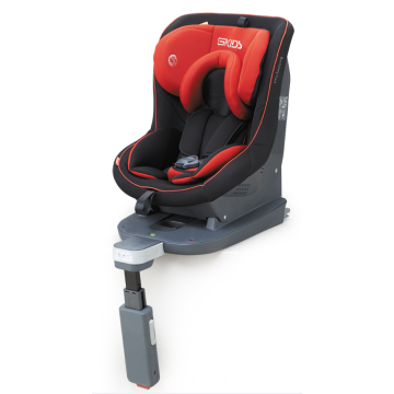 Child car seats with orange green covers