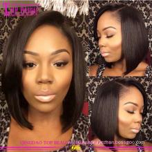 Высокое качество клубок бесплатно парики короткие человеческих волос полный парики шнурка кружева передние парики для чернокожих женщин