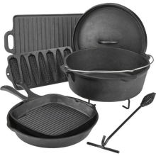 Vegetable Oil Cast Iron Cookware Camping Set