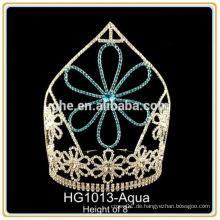 Rhinestonehochzeit Tiaras Hochzeitskrone Großhandels-Tiara-Perücke-Stabhochzeits-Tiara hairband