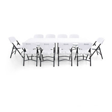 Tabelas de jantar brancas lisas que acampam a tabela de dobramento fácil plástica da tabela de banquete
