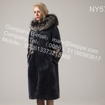 Australien Merino Shearling Long Coat für Frauen