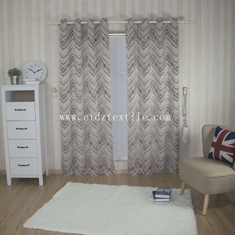 Hot Modern Low Cost Yarn Dyed Curtain Fabric WZQ139