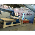 Full Automatic CNC router ATC furniture production line with drill cutting center