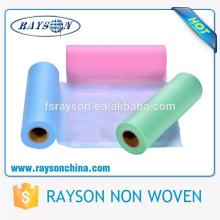 Tissu de couche-culotte en gros de tissu non-tissé de marché de tissu de la Chine