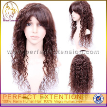Tangle Free 14Inch Medium Length Afro Kinky Curl 100% Indian Full Lace Wig