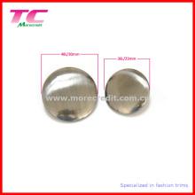 Bouton en métal blanc de haute qualité pour vêtement