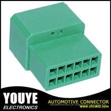 Conector de plástico forma 12 masculino e feminino
