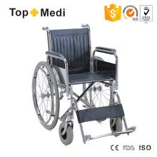 Günstiger Transit Steel Rollstuhl mit verchromtem Stahlrahmen