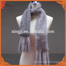 moda bufanda de piel de visón de punto