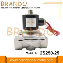 1'' 2S250-25 Stainless Steel Solenoid Valve For Wastewater