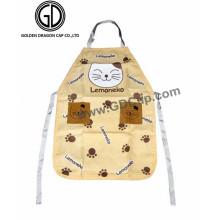 Manufacturer Custom Cat Pattern Cheap Cooking Kitchen Apron